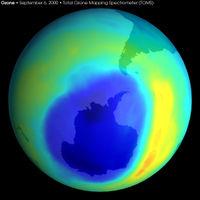 Largest ever Ozone hole, Sept 2000