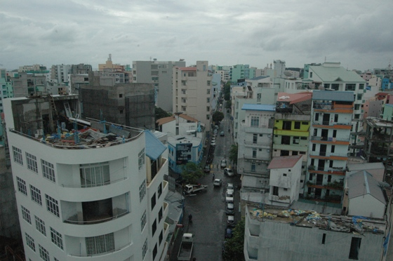 Overcrowded Malé, capital of the Maldives