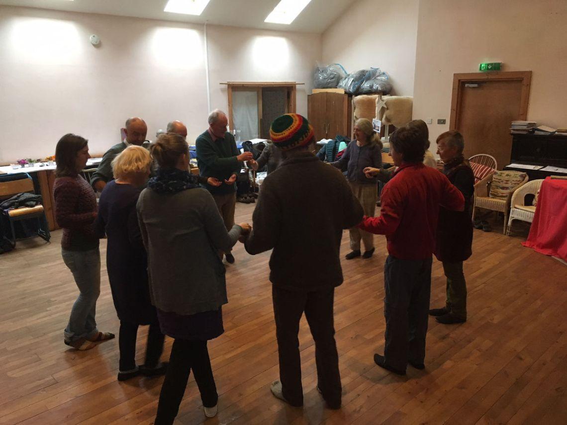 A Eurythmy workshop at a training seminar.