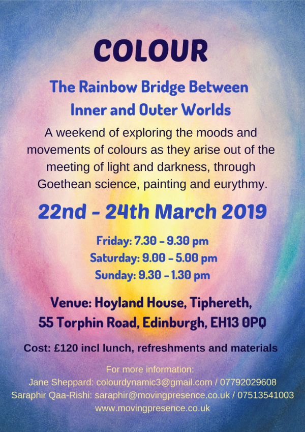 colour the rainbow bridge between inner and outer worlds