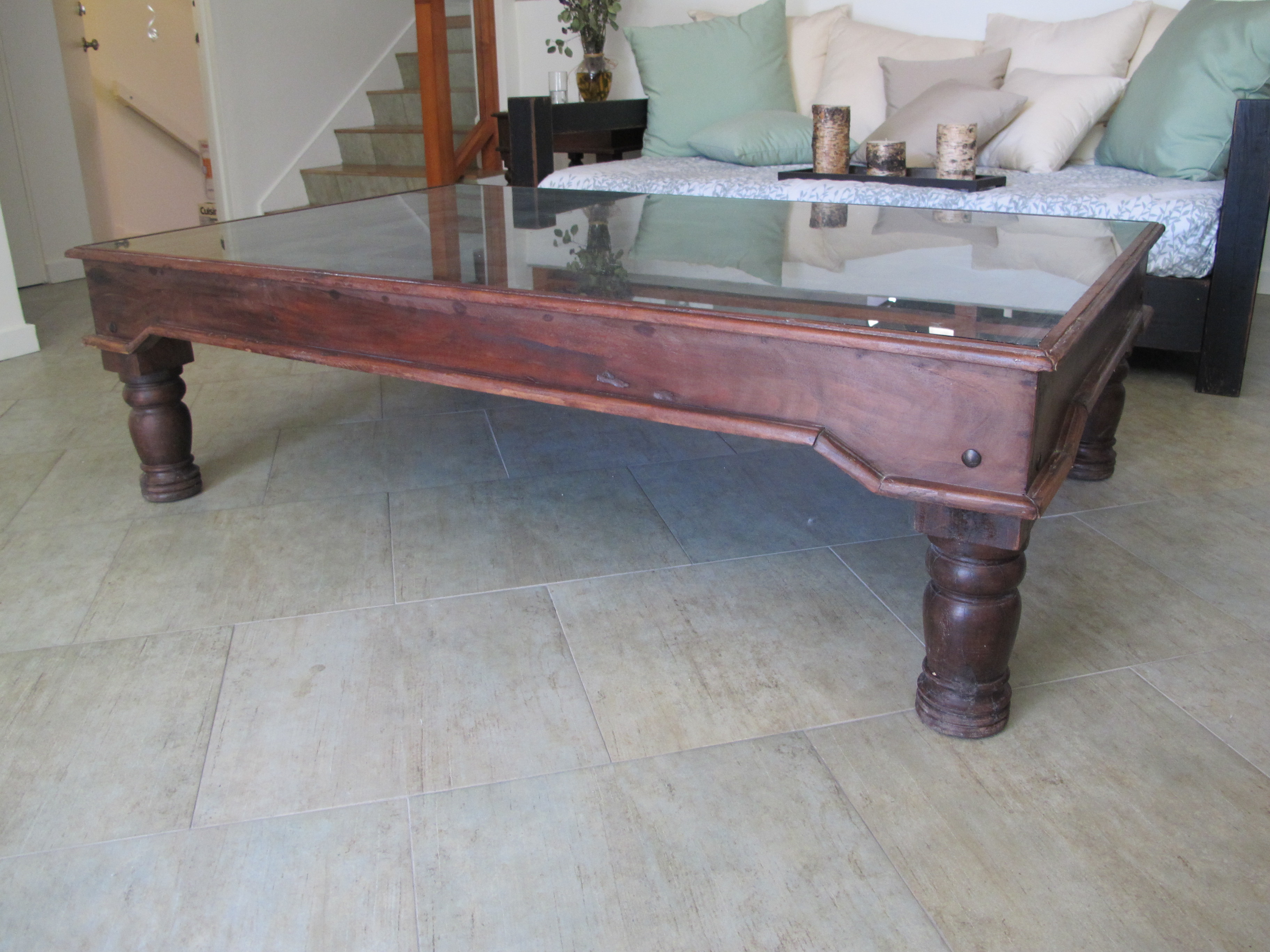 coffee table made from and old indian