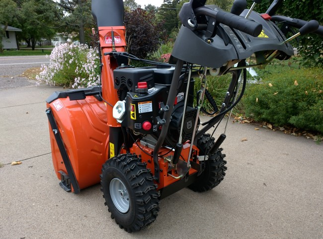 Husqvarna ST327P Snow Blower left rear