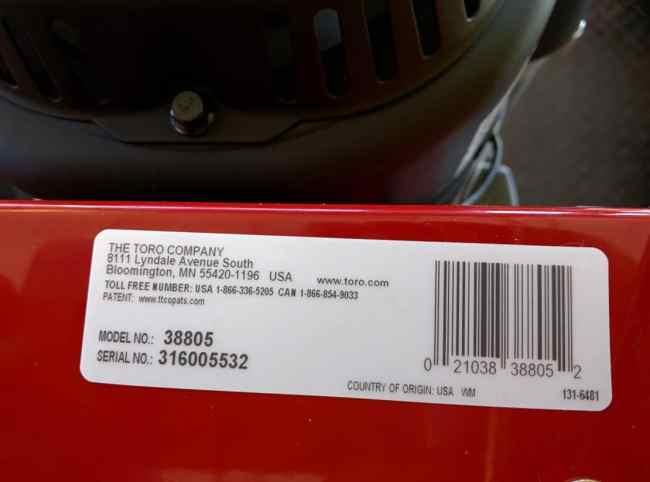Toro HD 826 OXE 1