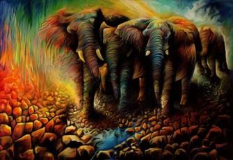 La peinture digital de Muraleedharan T