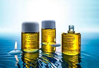 Les huiles essentielles Clarins pour le bien etre et la santé