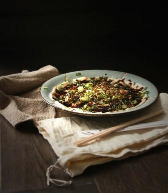 Carpaccio de légumes et tofu marinés