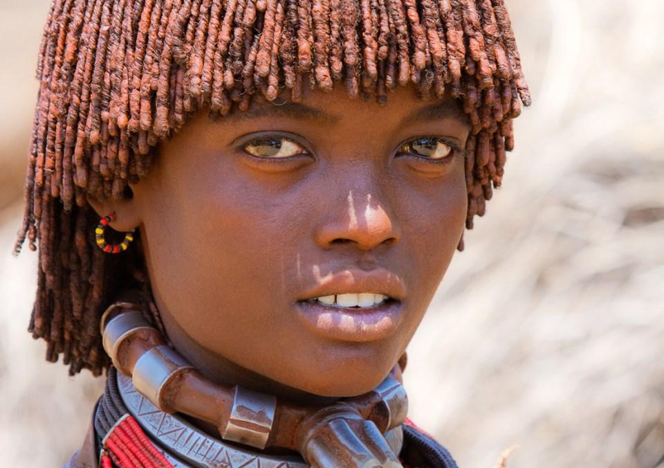 Une éthiopienne de la tribue Hamer.