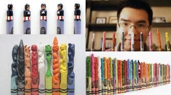 Sculptures de Crayola par Hoang Tran