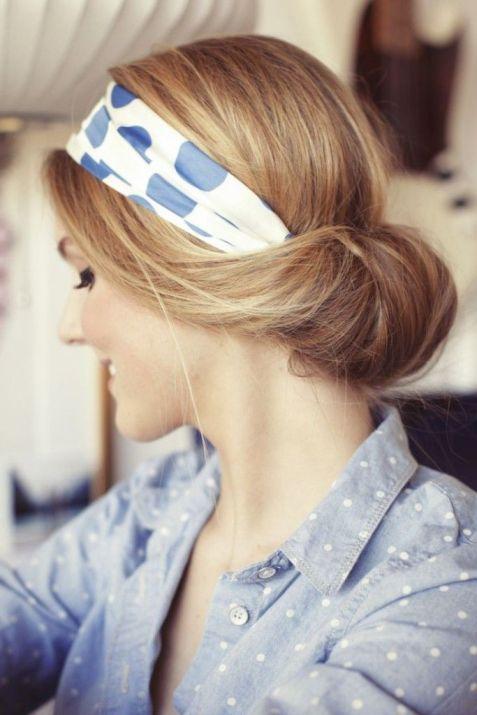 Accessoire de cheveux tendance, le foulard 10