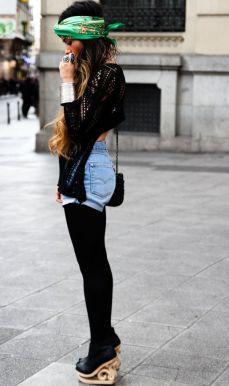 Accessoire de cheveux tendance, le foulard 5