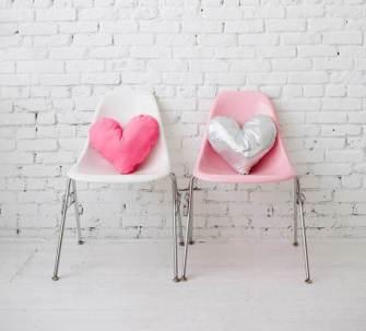 Les coussins coeur pour la St Valentin