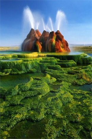 Le Fly Geyser, Nevada, USA 1