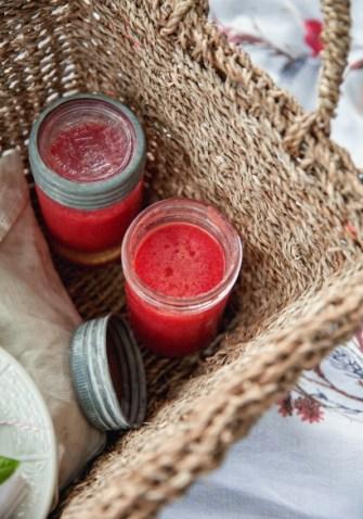 Gaspacho de melon et tomates
