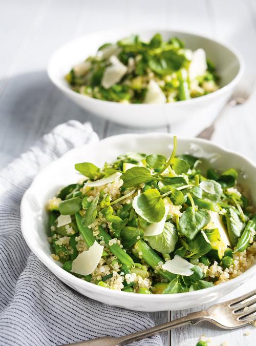 Salade de quinoa aux légumes verts