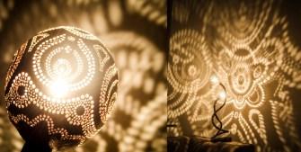 Vainius Kubilius et ses lampes en noix de coco