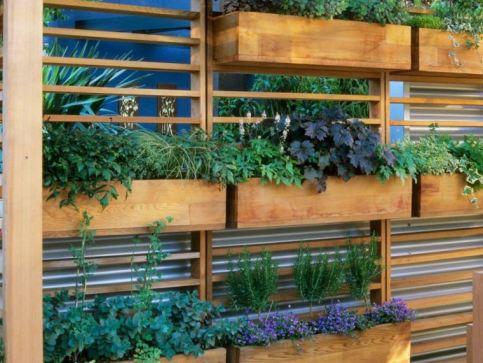 fenetre-potager-vertical-bois-idee-pots-de-fleurs