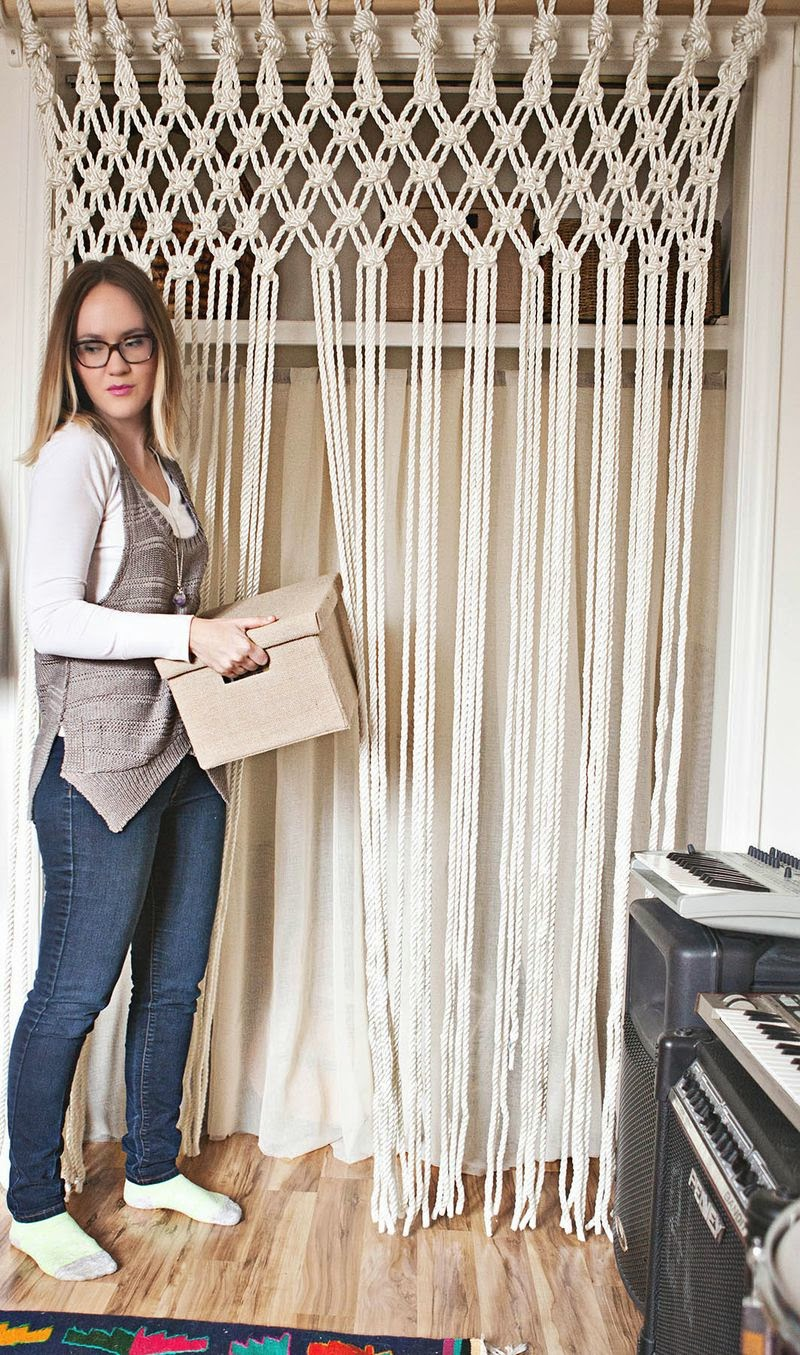 un rideau en macram faire soi m me moving tahiti. Black Bedroom Furniture Sets. Home Design Ideas