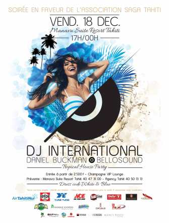 WHITE & BLUE TROPICAL HOUSE PARTY, une soirée caritative en faveur de la Saga Tahiti
