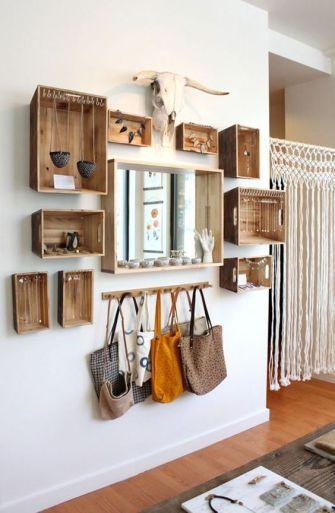 DIY : Créer des rangements avec caisses en bois