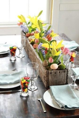 Une table rustique chic pour célébrer Pâques