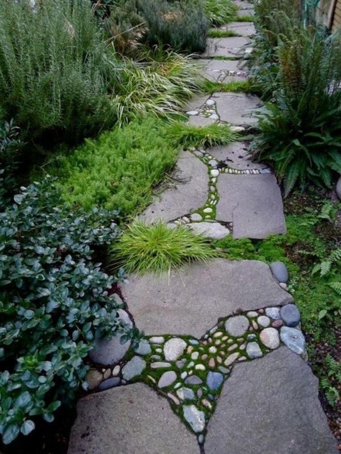 Comment Faire Une Allée De Jardin Revetement Sol Exterieur Pas Cher Allée  De Jardin