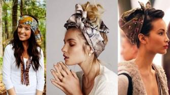 Le foulard dans les cheveux redevient ultra tendance