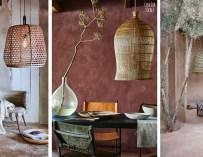 Déco ethnique, les lampes suspendues en fibres naturelles