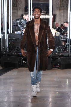 Le rappeur Fetty Wap à la Fashion Week de New York en Philipp Plein.