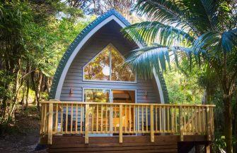 Petit chalet privé sur l'île de Waiheke, en Nouvelle-Zélande