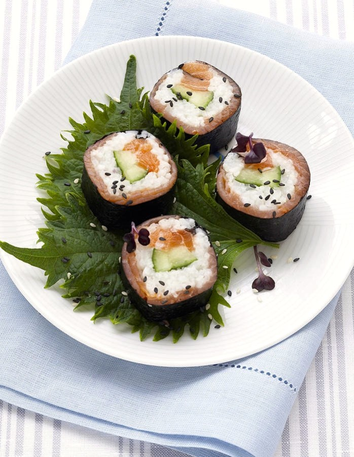 recette makis aux deux saumons