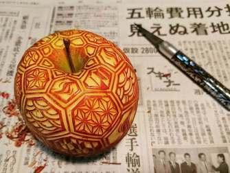 Mukimono, la sculpture sur fruits et légumes