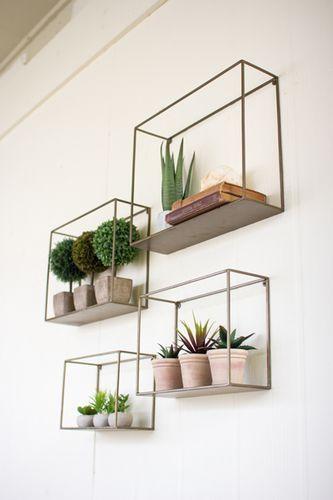 Mur végétal et plantes suspendues à l'intérieur