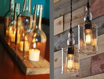 Des idées sympas et originales pour recycler vos bouteilles en verre en luminaires !