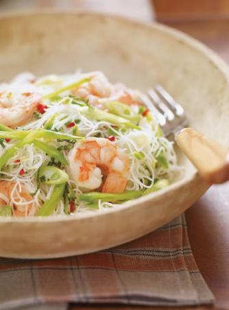 Vermicelles de riz épicés aux crevettes