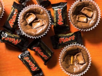 Brownies aux barres de chocolat