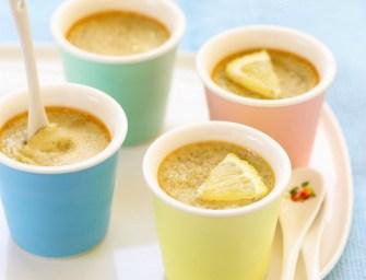 Crèmes au lait de coco et citron
