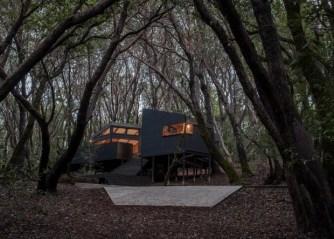 Une maison de vacances dans les bois, située au nord de la Californie