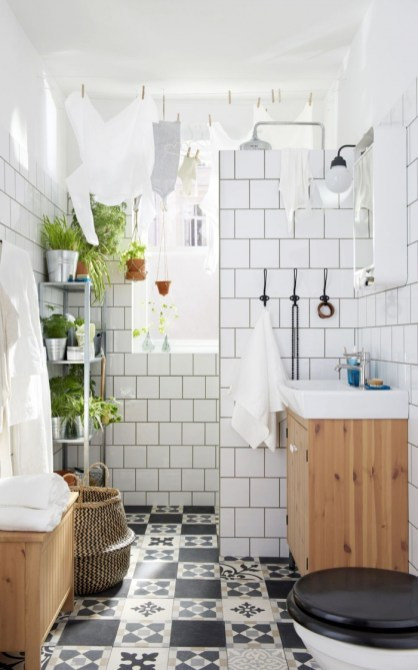 des-plantes-vertes-sur-une-armoire-de-salle