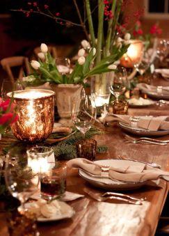 Une table raffinée au décor rustique chic pour Noël 11