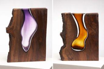 Vases-en-Verre-emboîtés-par-des-Formes-en-Bois-par-Scott-Slagerman-Studio-04