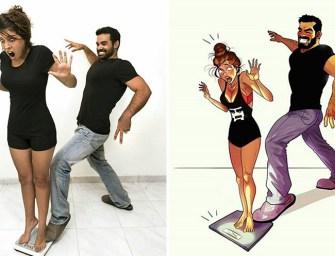 L'illustrateur Yehuda Adi Devir raconte avec humour les petits tracas de la vie de couple