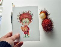 Une artiste peintre donne vie aux fruits en les transformant en adorables personnages