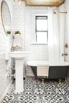Mosaique Noir et blanc - salle de bain (18)