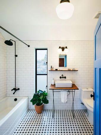 Mosaique Noir et blanc - salle de bain (6)
