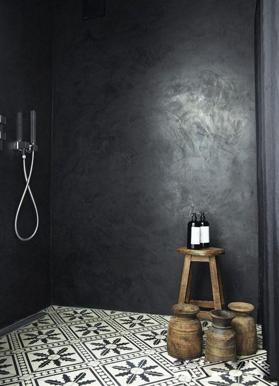 Mosaique Noir et blanc - salle de bain (9) - Moving Tahiti
