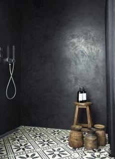 Mosaique Noir et blanc - salle de bain (9)