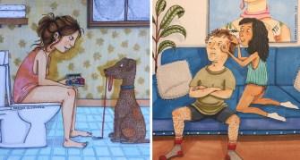 L'illustratrice Amanda Oleander  montre à quoi ressemble l'amour, que vous soyez en couple ou non.