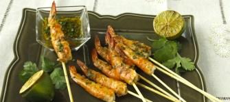 Crevettes grillées au gingembre