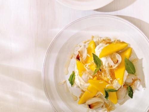 dessert salade de mangue et litchis