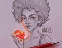 L'artiste bulgare Angel Ganev crée des effets de lumière exceptionnels sur ses illustrations